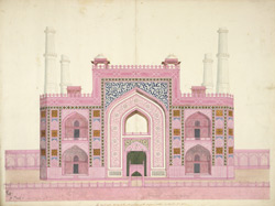 Entrance gateway to Akbar's mausoleum, Sikandra 1781